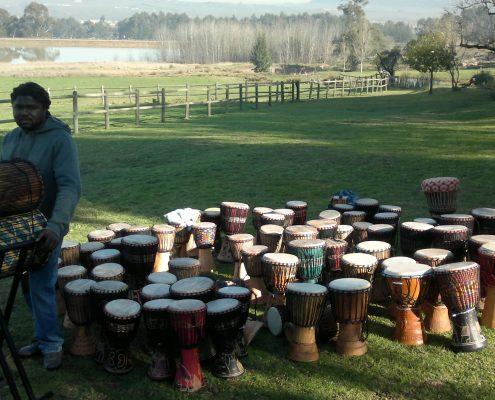 Juma Drums - Teambuilding Thokozani Diemersfontein Estate
