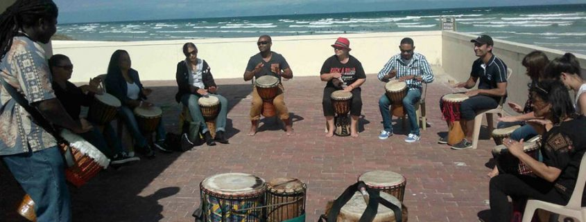 Drumming Workshop in Muizenberg - February 2015