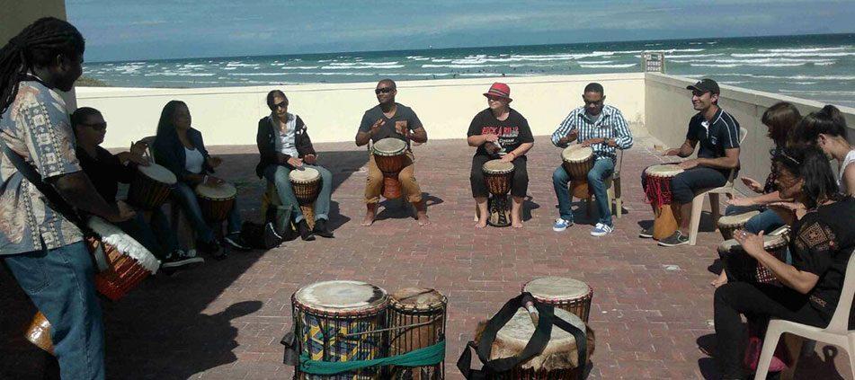 Drumming Workshop in Muizenberg - February 2015
