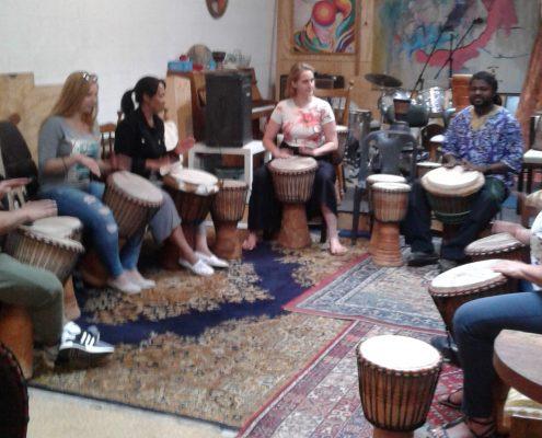 Djembe drumming Antwerp 2019